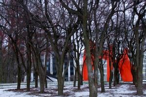 Calder through trees
